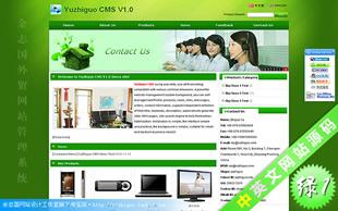 外贸网站模板绿色1